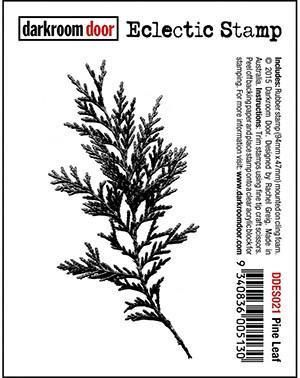 Darkroom Door Cling Stamp 3 inch X2 inch Pine Leaf