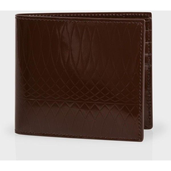 Paul Smith No.9 | Chocolate Brown Patent Leather Billfold Wallet (€170) ❤ liked on Polyvore featuring men's fashion, men's bags, men's wallets, patent chocolate brown, paul smith mens wallet, mens billfold wallets and mens credit card holder wallet