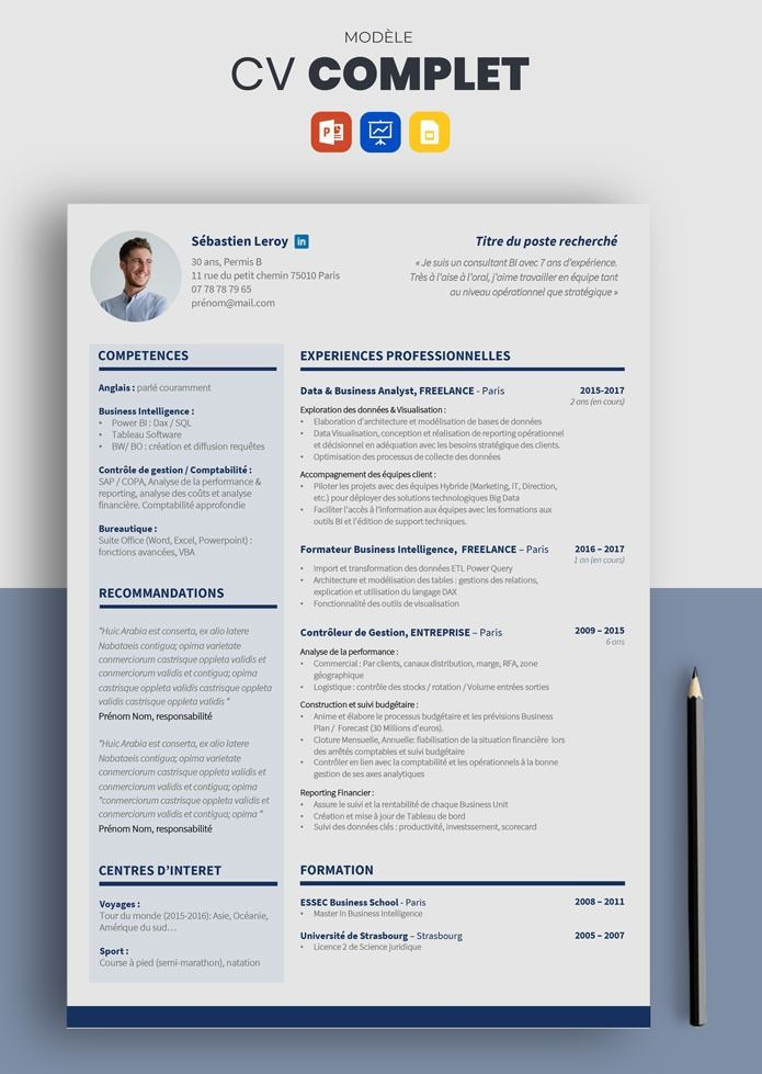 Cv Complet Modele De Cv Simple Et Efficace A Telecharger Modele Cv Cv Simple Rediger Un Cv