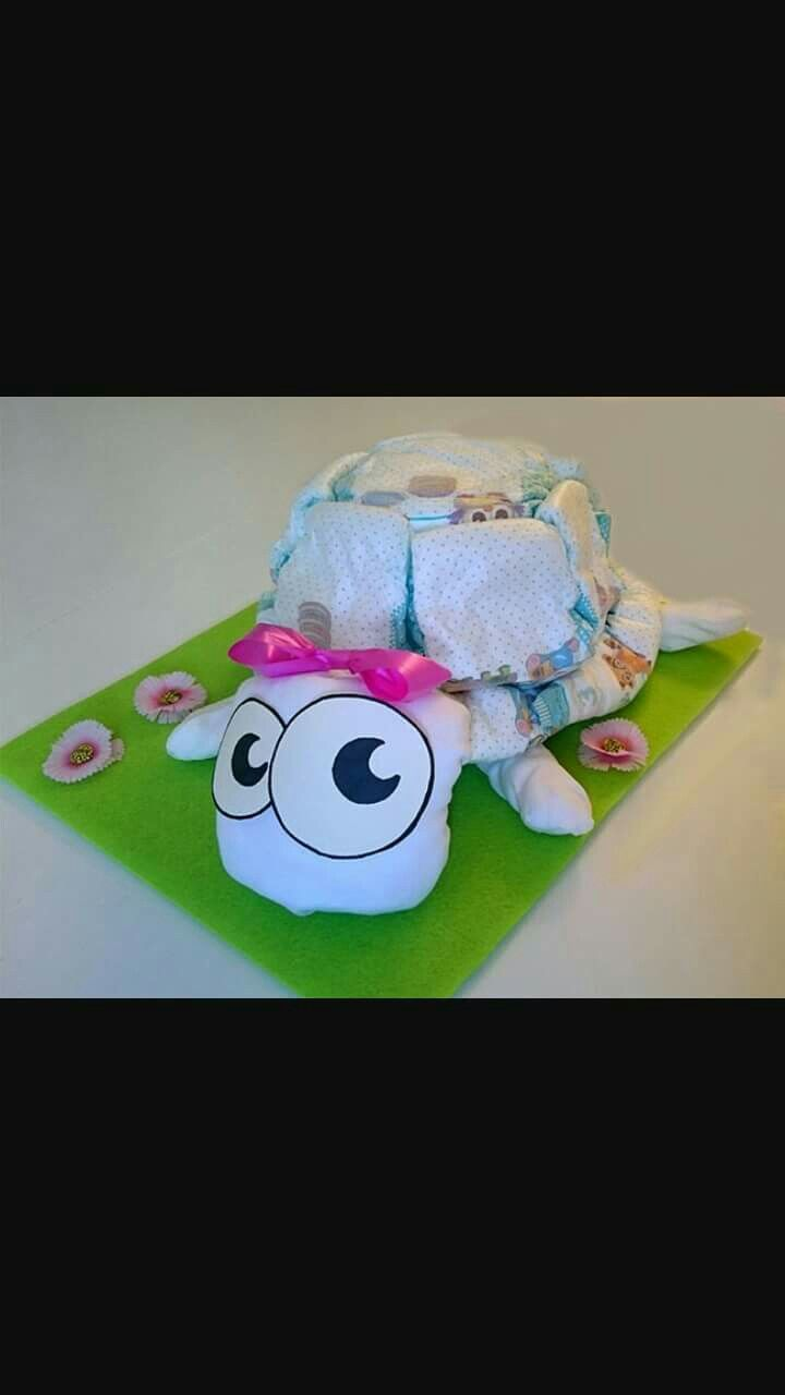 Torta pannolini tartaruga