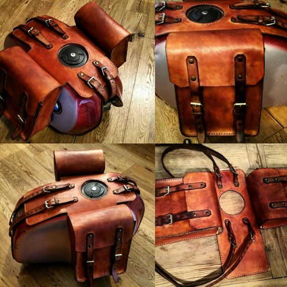 Bmw r45 r65 r80 r100 leather tank bags cafe racer special scrambler