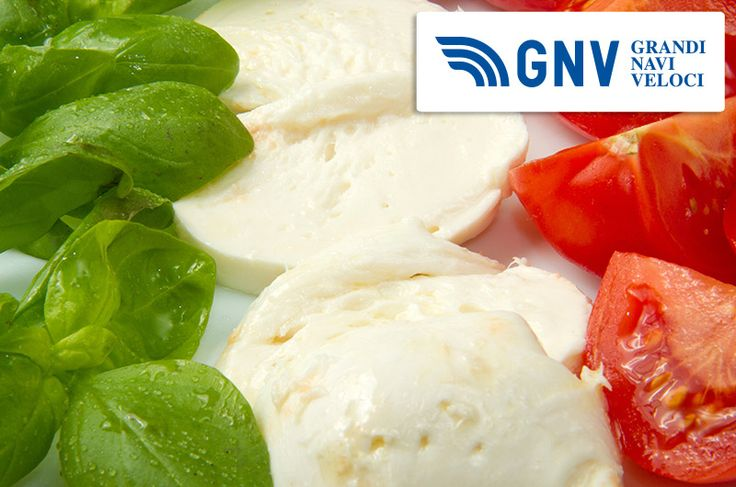 #Italian #flag made with #tomato #mozzarella & #basil - #green #white #red  Discover #GNV here: http://www.gnv.it/en/