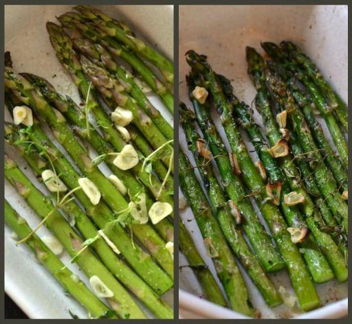 Grillede grønne asparges