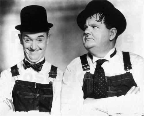 Laurel und Hardy - Dick und Doof Bilder: Poster bei Posterlounge.de