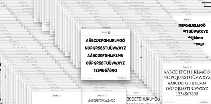 Einen kompletten Ordner mit Schriftarten/Fonts am Mac installieren