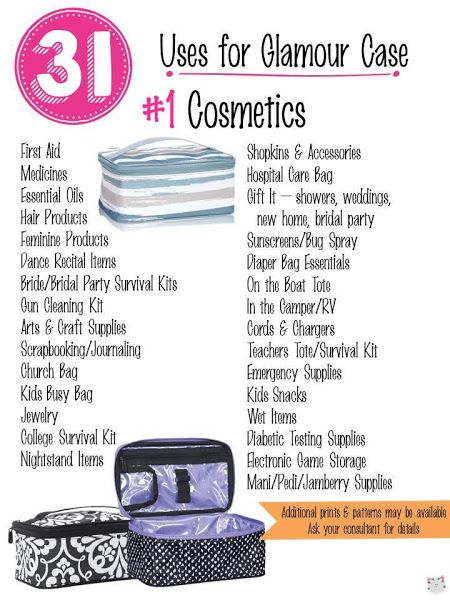 31 Uses for Thirty-One Glamour Case. #Carrie31Bags