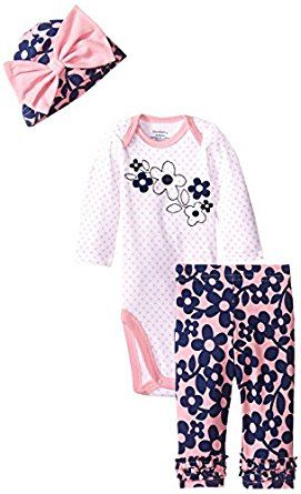 Gerber Baby-Girls Newborn 3 Piece Bodysuit ... by Gerber for $9.99 http://amzn.to/2gQV2Xb