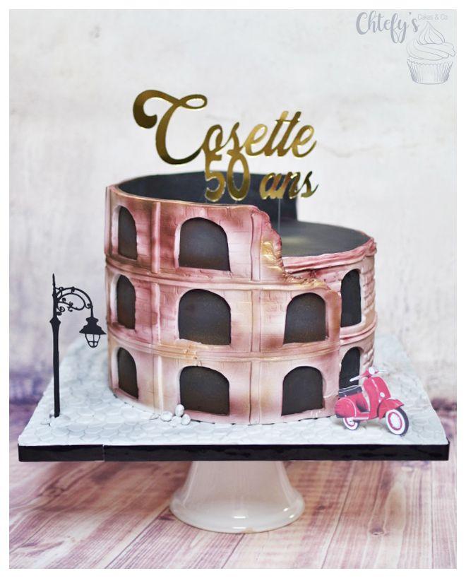 Colisee Rome Cake Cake Design En 2019 Cake Gateau Fait
