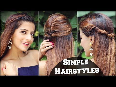 1 Min Cute EVERYDAY Effortless Hairstyles For School, College, Work/ Simple & Quick Hair Tutorial - YouTube