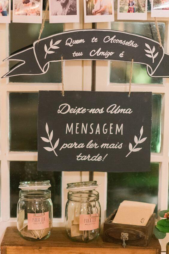 decoração de casamento placas conselho