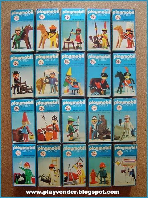 Playmobil. Zeker tien van deze 20 doosjes hadden wij vroeger thuis om mee te spelen.