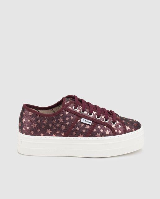De Granate Color Con Adorno Mujer Zapatillas Lona Victoria e9IHWEYD2