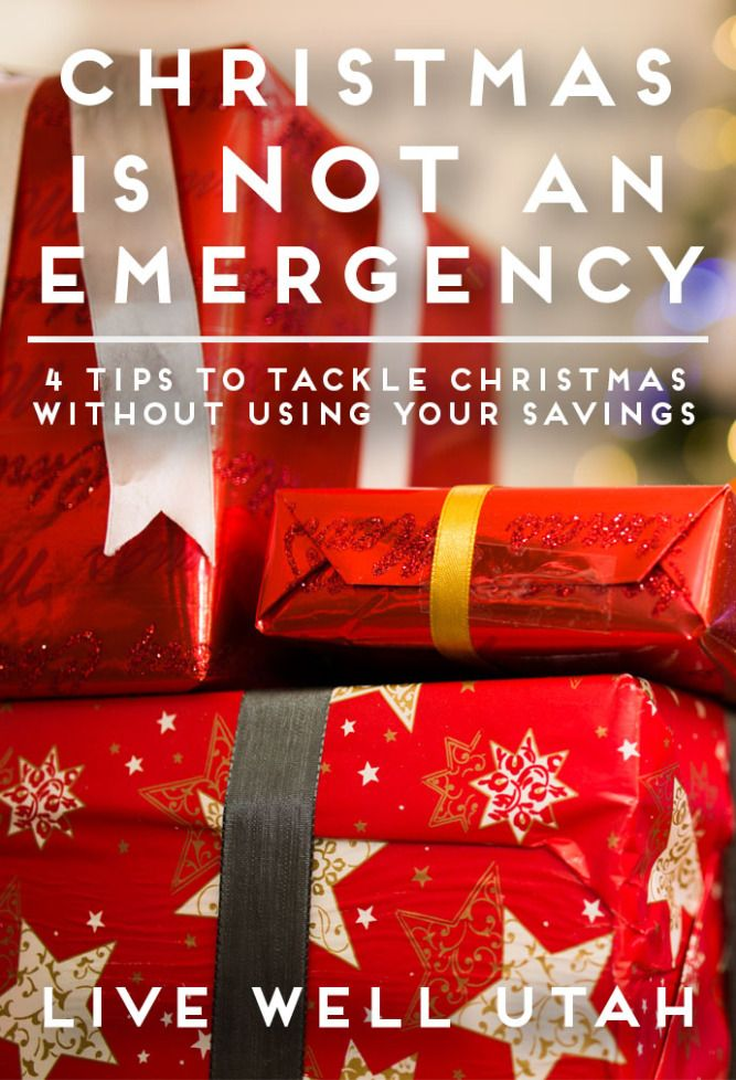 Don't use your emergency funds for Christmas- start now  to plan and budget. Shop smart! Get the tips on Live Well Utah.