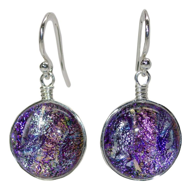 Venus Nickel Free Earrings- pink, feminine, nickel free, made in USA! – Athena Allergy, Inc.  The hues in this dichroic glass can only be fully appreciated when viewed in person, but it is amazing! Plus, these earrings are handmade in the USA and guaranteed nickel free for life! #nonickel #nickelfree #athenaallergy