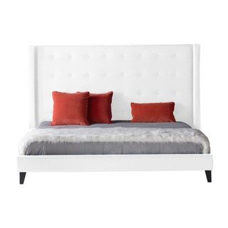 59 inchesModern Life Madison White Standard King-size Bed - 20649896 - Overstock - Great Deals on Modern Life Beds - Mobile 59 inches high