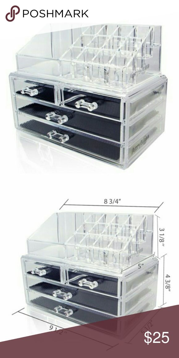 Acrylic Makeup Organizer Clear acrylic makeup organizer! 2 piece set, NWT. Makeup Brushes & Tools