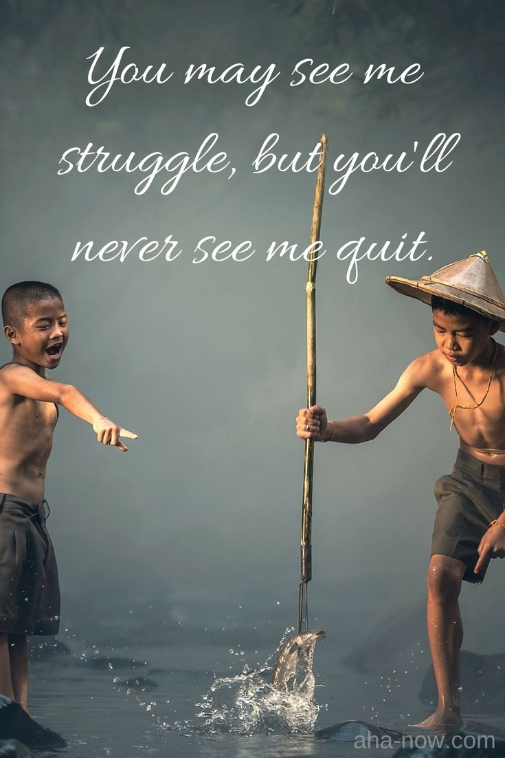 ~ You may see me struggle, but you'll never see me quit ~