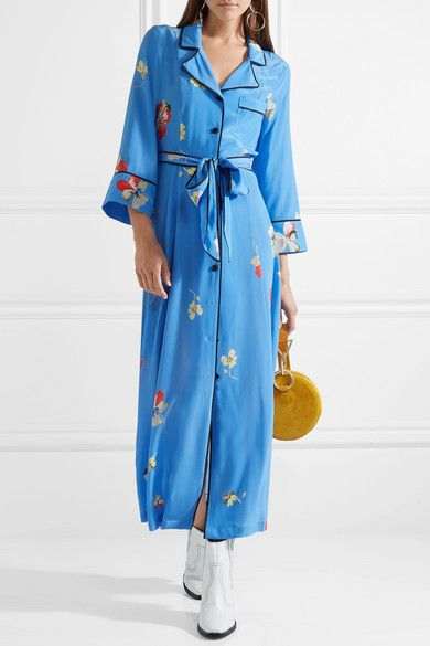 50ca2d8d GANNI   Joycedale floral-print silk crepe de chine maxi dress    NET-A-PORTER.COM