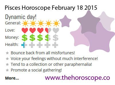 Dynamic day for #Pisces on Feb 18th #horoscope ... http://www.thehoroscope.co/horoscope/Pisces-Horoscope-today-February-18-2015-2296.html