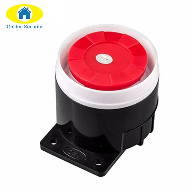 Golden Security Wired Indoor Mini Wired Siren For Wireless Home Alarm Security System Mini Siren Sound For Alarm System Home Security Alarm System Home Alarm