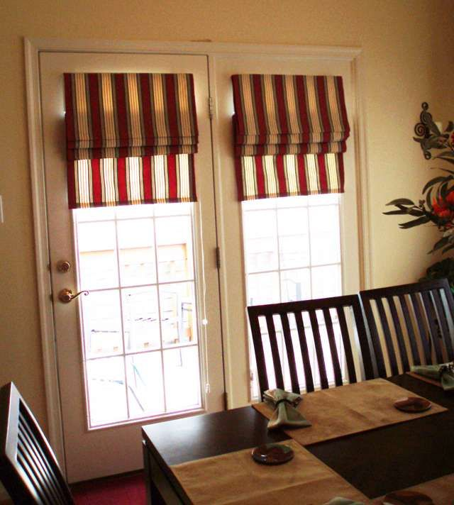 French Door Roman Shades Are Popular Functional Window Coverings That Add A Characteristic Style To French Doors By Combining Simplicity And Elegance