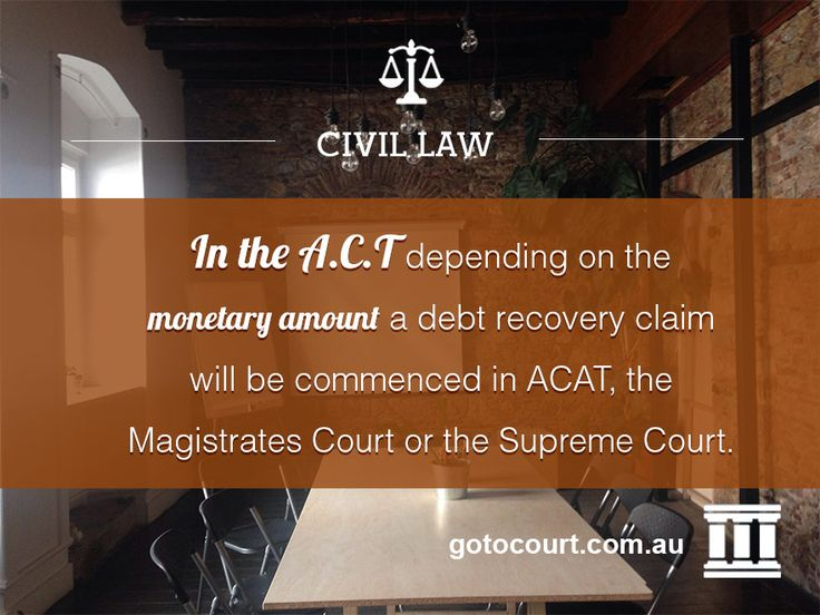 https://www.gotocourt.com.au/civil-law/act/debt-recovery Before starting debt recovery action the creditor must send a letter of demand to the debtor setting out the claim and asking for a response within a certain timeframe, and advising that if the debtor fails to do so the creditor reserves the right to commence legal proceedings.
