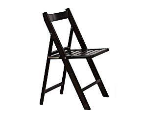 Silla plegable de madera de haya lacada – negra