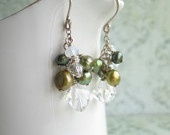 These are OMG kind of earrings!!! Olivine green and crystals...