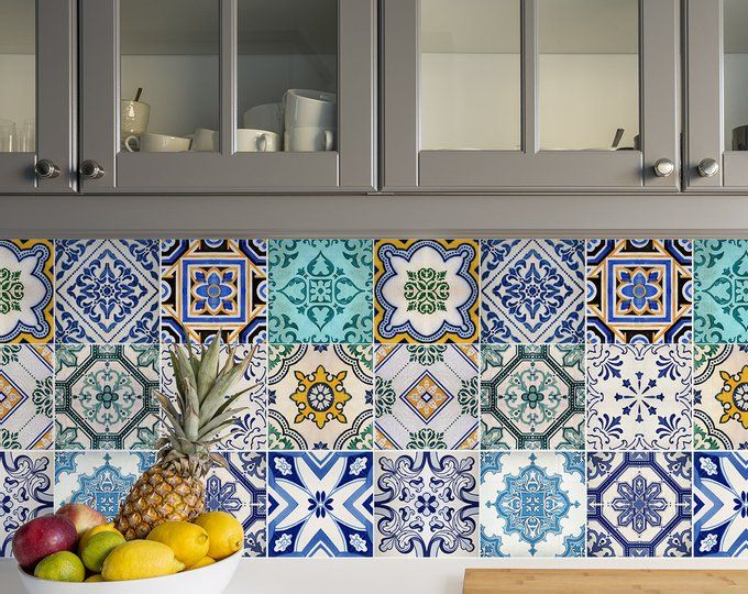 Traditional Spanish Tiles Stickers Tiles Decals Tiles For