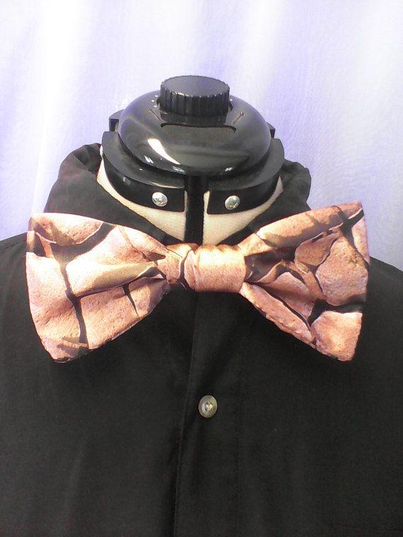 Bow tie mens bow tie brown bow tie neck tie pocket