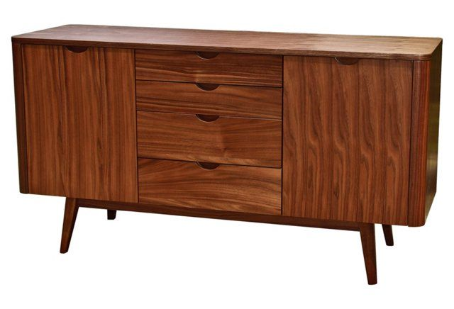 "This piece is from One Kings Lane - a flash sale site, so it won't be available for long!   Milano 55"" Sideboard, Walnut"