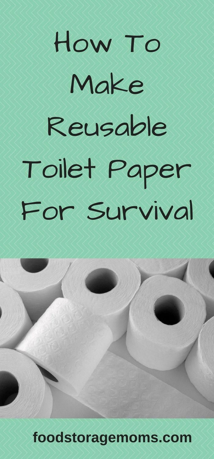 How To Make Reusable Toilet Paper For Survival
