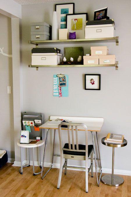 17 best ideas about shelves above desk on pinterest desk. Black Bedroom Furniture Sets. Home Design Ideas