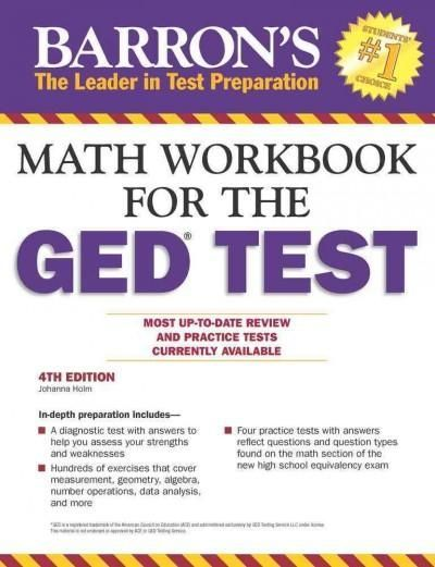 This self-teaching workbook offers extensive preparation and brush-up in math for all who plan to take the GED High School Equivalency Test. A diagnostic test with answers is presented to help test ta
