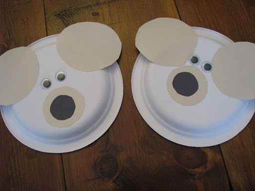 simple paper plate polar bear craft Could make it as a mask & 625 best paper plate images on Pinterest | Christmas activities ...
