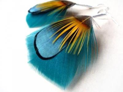 Moda / Kolczyki piórka – modny dodatek.   Moda i uroda nie tylko dla dziewczyn - For Jenny from Ewa and Iza~