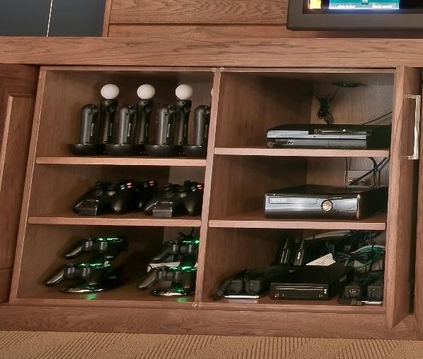 Game System Storage Set-Up