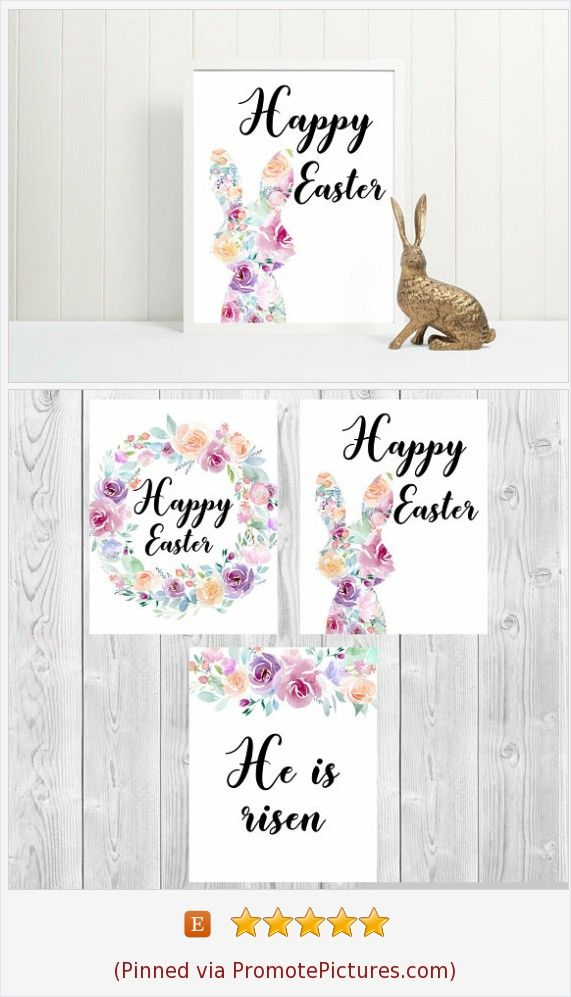 Build your own custom mix and match set of Happy Easter Bunny Printables (1-2 or 3 prints) Happy Easter Bunny print Sign decorations Art Easter party printables Easter religios sign He is risen Lawn games Spring Digital print . Look at other arts by #yrsalka #instantdownload #easterrintables #easter