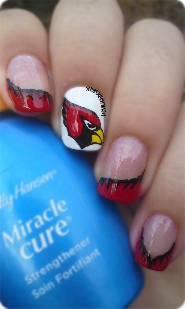 Sunday Football Arizona Cardinals Re Pin Nail Exchange Pinterest And Nails