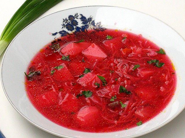 Ciorba de sfecla rosie