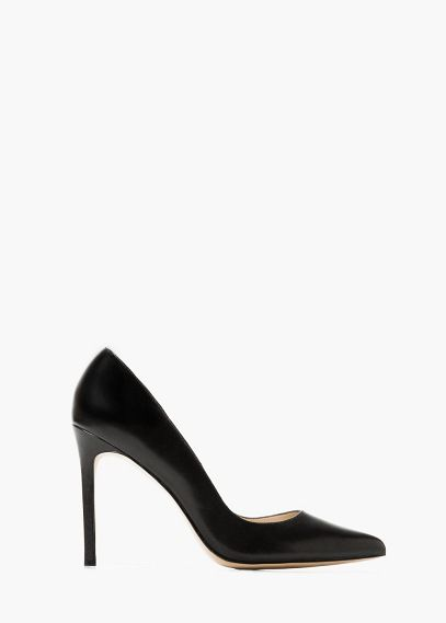 Pointed toe leather shoes | MANGO