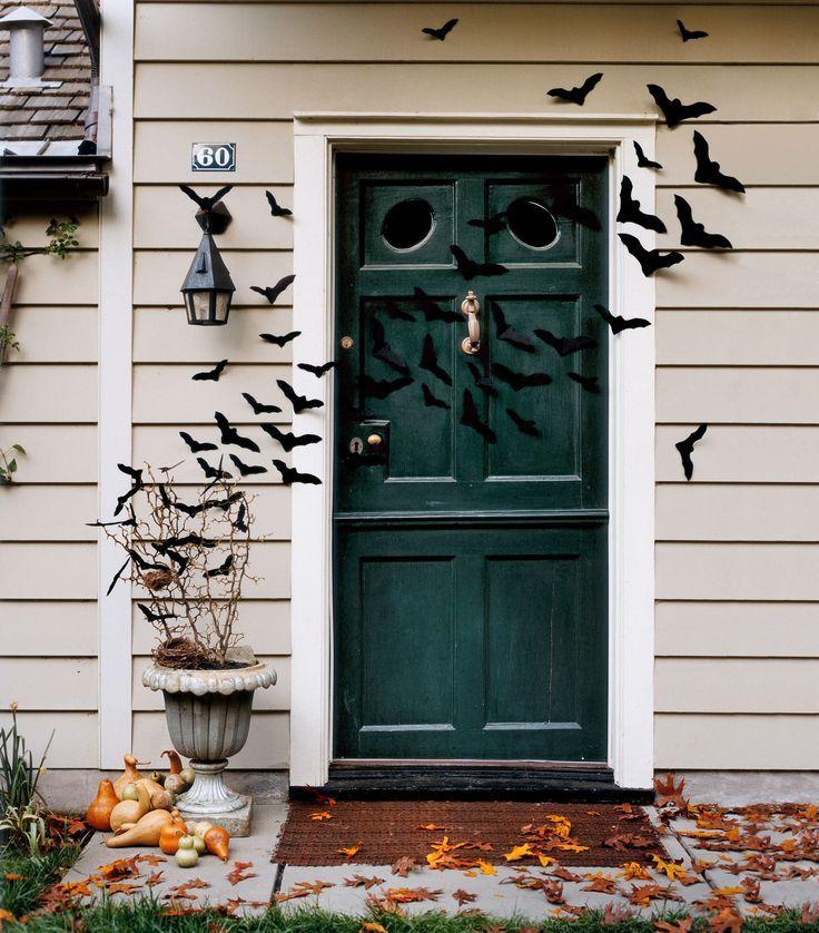 Grab black felt or paper to DIY a swarm of bats.