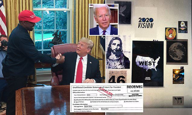 Kanye West Suggests He Is Running A Spoiler Campaign Against Joe Biden In 2020 Joe Biden Kanye West Gary Johnson