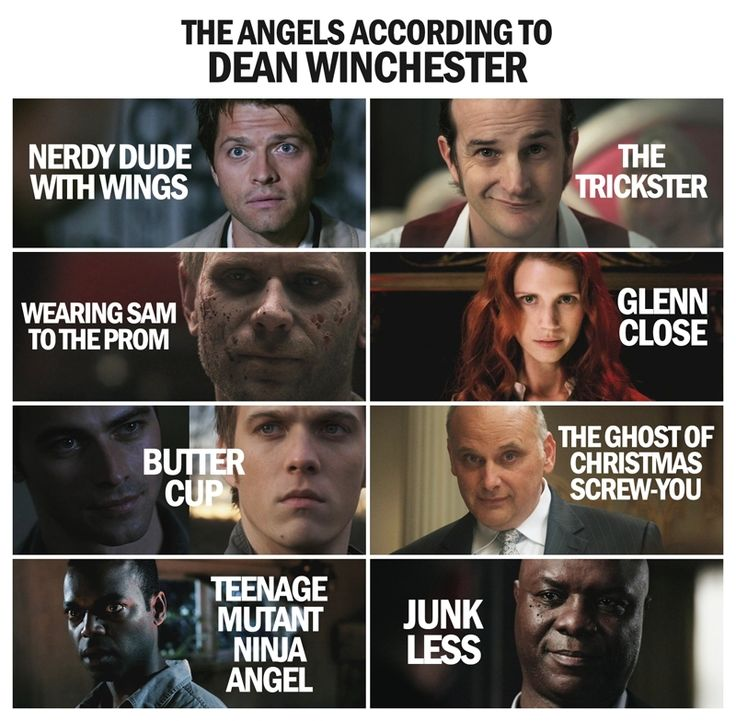 Ha, I love Dean's names for all of them.