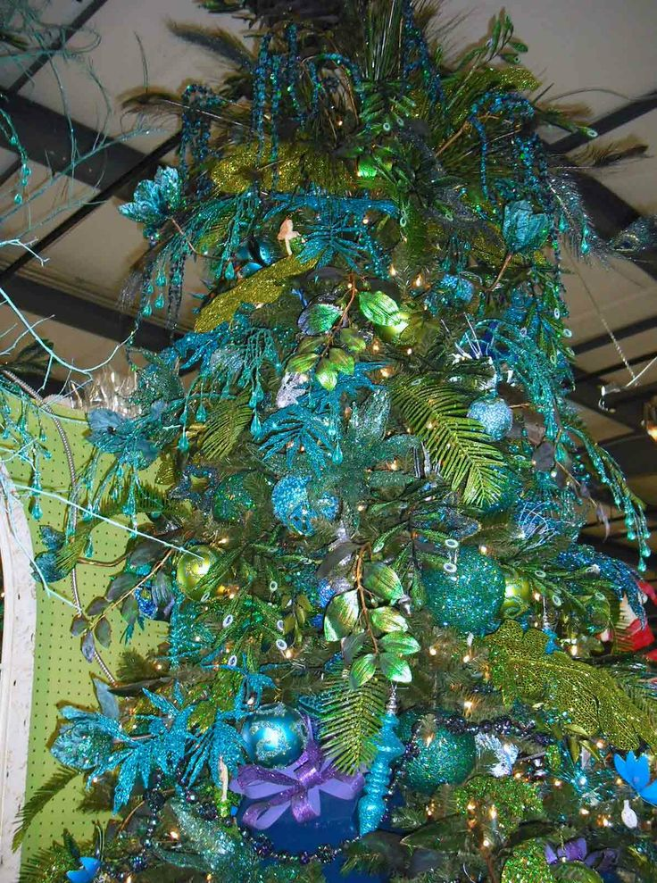100 Best Peacock Christmas Tree Images On Pinterest