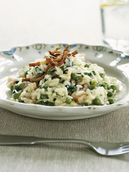 Risotto with peas and pancetta