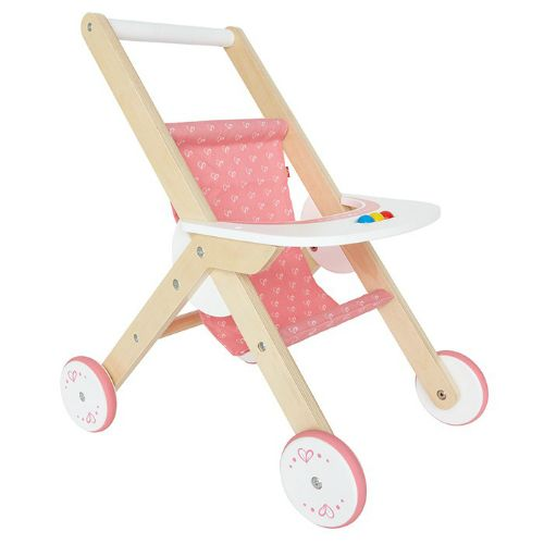 This classic stroller made by Hape is beautifully crafted of FSC certified wood from sustainable forests and coloured with safe water based paint. Created to inspire imaginative play, learning and exploration of the world, the stroller is a must for the home playroom. Engaging in role play provides opportunities for nurturing and taking care of others, assists children to build positive relationships with peers and adults.