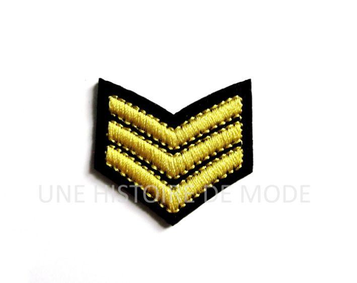 Ecusson , patch thermocollant Blason / galon armée / marine à coudre ou repasser 39 x 36 mm - blason - applique couture : Déco, Customisation Textile par une-histoire-de-mode