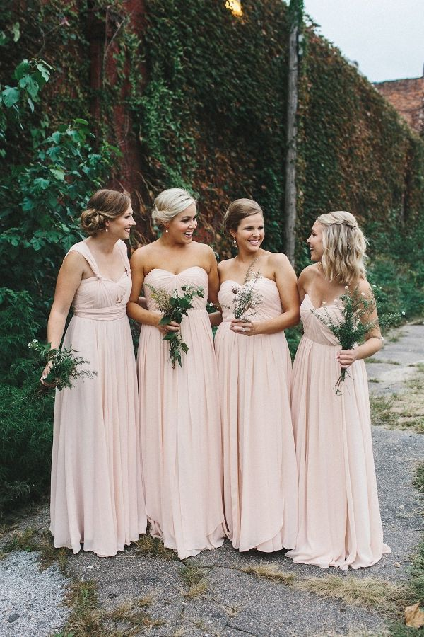 Blush Bridesmaid Dresses | Mae Small Photography on @loveincmag via @aislesociety
