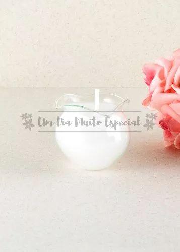 100 velas no pote vidro babado parafina branca vela rechaud